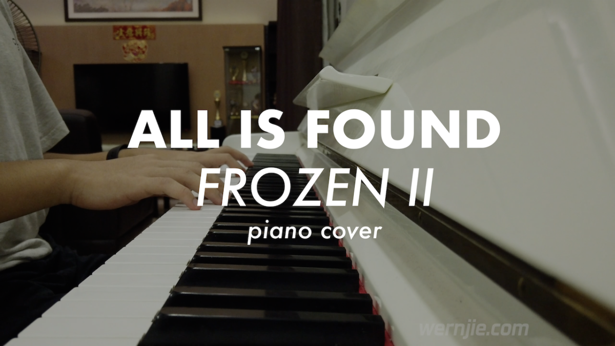 All is Found – Original Piano Cover