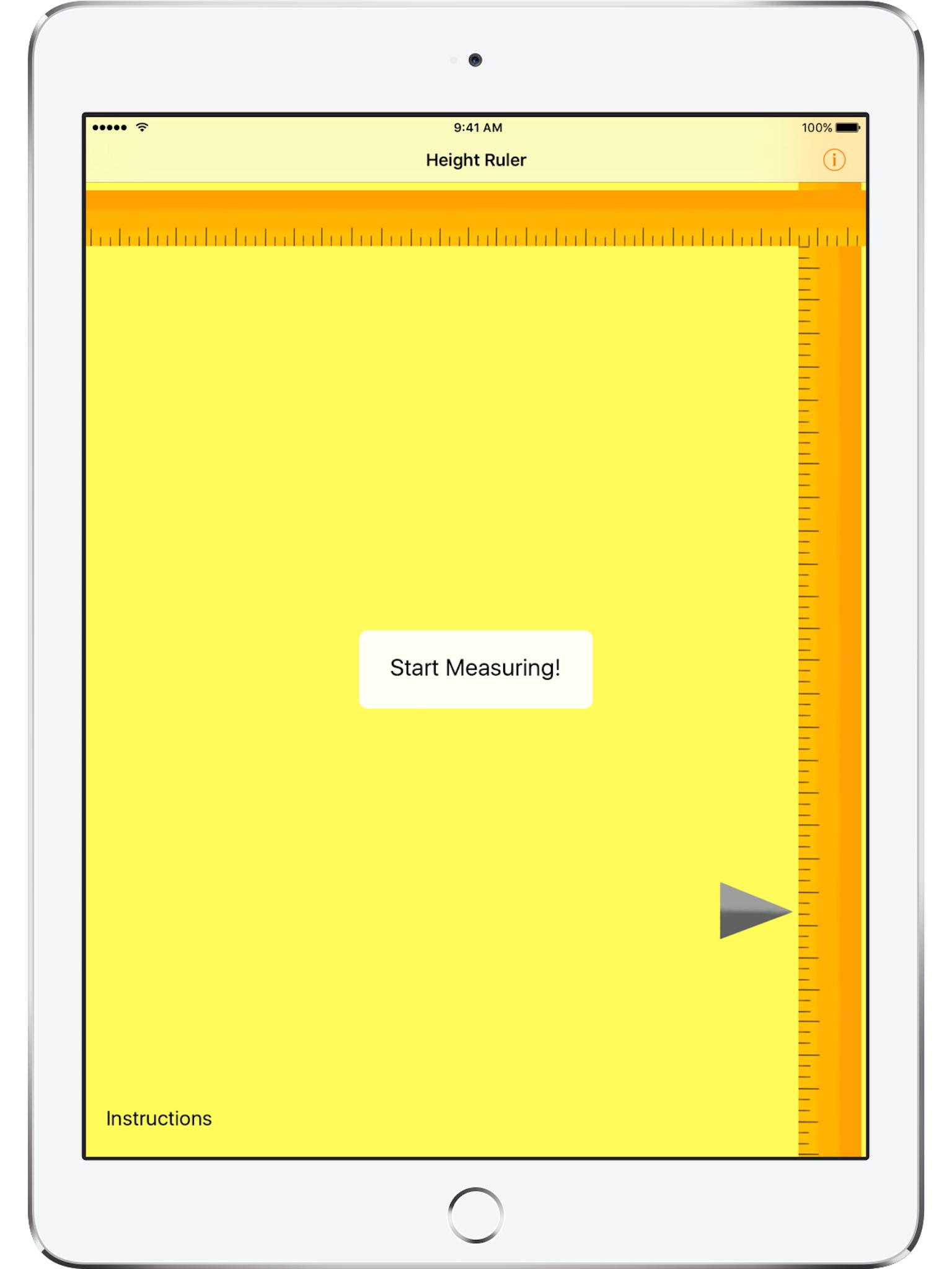 Height Ruler (iOS) – Wern Jie's Website